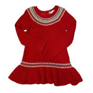 NWOT Novogratz Red Ruffle Sweater - 3T